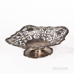 Sterling Silver Reticulated Footed Basket