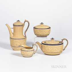 Four Turner Caneware Tea Wares