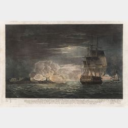 John William Edy (Danish, 1760-1820), After Thomas Whitcombe (British, 1763–1824), Two Prints: The Cutting of the Spanish (late his Maj