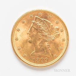 1899 $5 Liberty Head Gold Coin