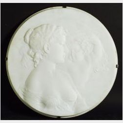 Thomas Ball (American, 1819-1911)  Relief Plaque with Mother and Child