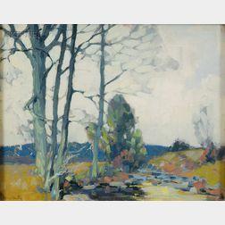 Alfred Heber Hutty (American, 1877-1954)      Broadview, Woodstock, New York