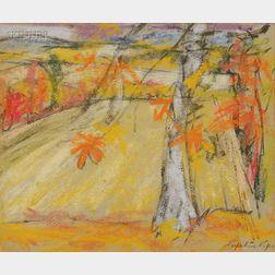 Perpetua Pope (Scottish, b. 1916)      Autumn Landscape