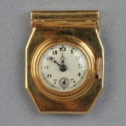 Retro 14kt Gold Clip Watch