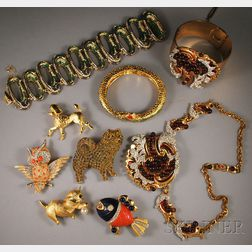 Small Group of Vintage Costume Jewelry