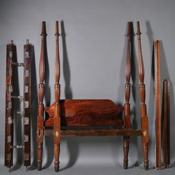 Federal Mahogany Tester Bed with Frame