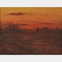 John Joseph Enneking (American, 1841-1916)      Golden Sunset