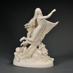 Copeland Parian Allegorical Depiction of The Sleep of Sorrow and Dream of Joy
