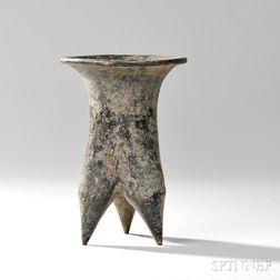 Tripod Pottery Vessel