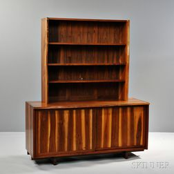 Custom Studio Furniture Cabinet with Overshelf