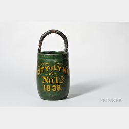 """City of Lynn"" Green-painted Fire Bucket"