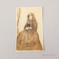 Carte-de-visite of Mary Todd Lincoln in Mourning Attire
