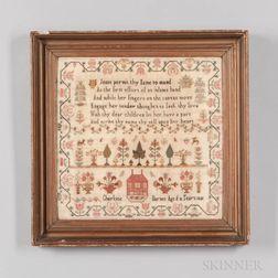 Dated 1815 Charlotte Barnes Needlepoint Sampler