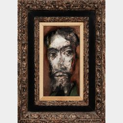 Henry Schwartz (American, 1927-2009)      Elongated Head of a Man