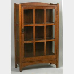 Arts and Crafts Oak China Cabinet