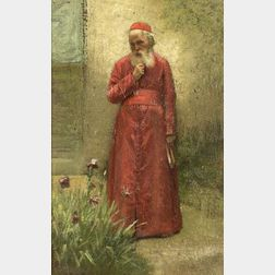 Francis D. Millet (American, 1846-1912)  The Cardinal's Garden