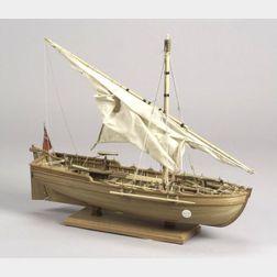 Carved Wooden Ship Model