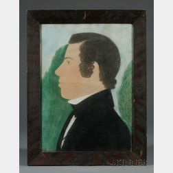 Ruth Henshaw Bascom (American, 1772-1848) Lot of Four Profile Portraits of the Phillips Family: Israel Phillips (1771-1844), brother-in
