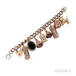 9kt Gold Charm Bracelet