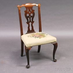 Transitional Chippendale Mahogany Side Chair