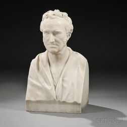 White Marble Bust of a Man