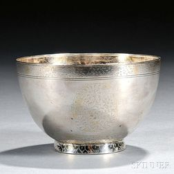 Indian Silver Footed Bowl