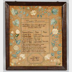 Needlework Stone Family Register