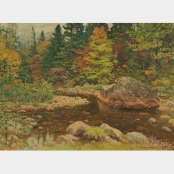 John Joseph Enneking (American, 1841-1916)      Trout Brook