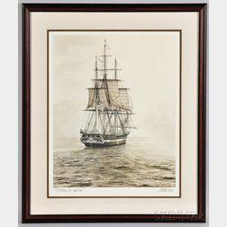 Artist Signed Old Ironsides - Sail 200 Print