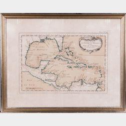 Gulf of Mexico. Jacques-Nicolas Bellin (1703-1772) Carte Reduite du Golphe du Mexique et des Isles de l'Amerique.