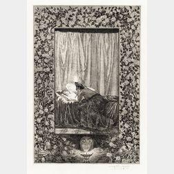 Max Klinger (German, 1857-1920)      Psyche mit der Lampe