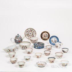 Twenty-two Export Enameled Porcelain Items
