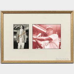 Two Framed Jackie Robinson Items