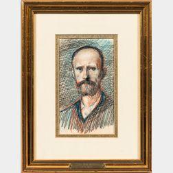Hans von Marées (German, 1837-1887)      Head of the Artist