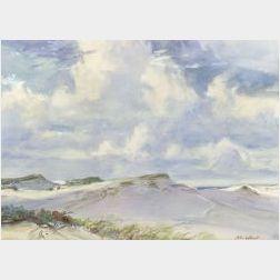 John Whorf (American, 1903-1959)  Provincetown Dunes