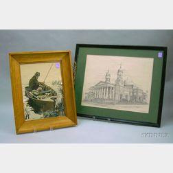 Two Framed Works on Paper