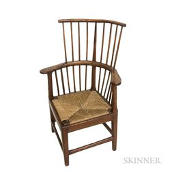 English Provincial Yew Roundabout Chair