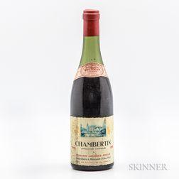 Jacques Prieur Chambertin 1961, 1 bottle