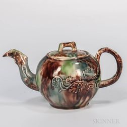 Staffordshire Lead-glazed Creamware Teapot and Cover