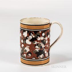 Marbled Slip-decorated Quart Mug