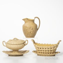 Three Wedgwood Caneware Table Items