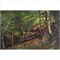 George Albert Frost (American, b. 1843)  Woodland Interior