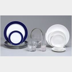 Group of Porcelain and Glass Tableware Items