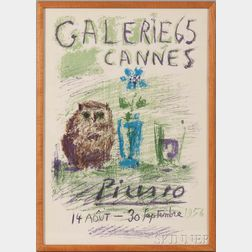 After Pablo Picasso (Spanish, 1881-1973)      Galerie 65 Cannes