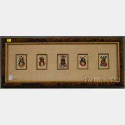 Five Native American Portrait Series Tobacco Silks