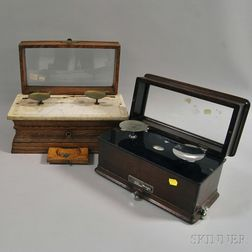 Two Cased Balance Scales