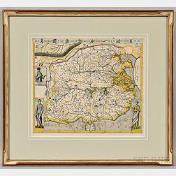 China. Theodor de Bry (1528-1598) Descriptio Chorographica Regni Chinae.