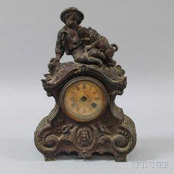 Terry Clock Co. Figural Mantel Clock