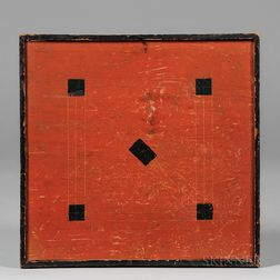 Red- and Black-painted Double-sided Baseball Game Board