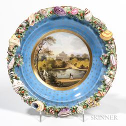 Chamberlains Worcester Shell-encrusted Bowl